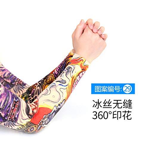 CXQ Tattoo Ärmel Eis Seide Tattoo Ärmel Blume Arm nahtlose Druck Armschutz weiblich Eis Sommer Sonnenschutz männlich Armschutz -29