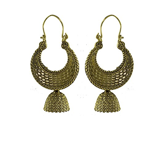 Unicorn's Chand Bali Dangle Earrings in Antique Gold Plating For Women & Girls - UEASER50096CO  available at amazon for Rs.229