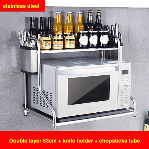 DENG&JQ Edelstahl 304 Mikrowelle Rack, Wand Montiert Ofen-Regal Wandgestell Home Küche Au