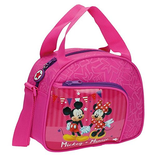 Disney mickey & minnie party beauty case da viaggio, 23 cm, 4.37 litri, rosa