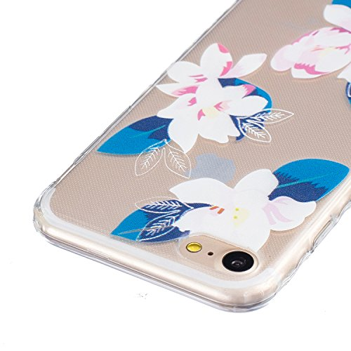 Sunroyal Hülle für iphone 7 (4.7 inches) Silicone Case Cover, Scratch-resistant Ultra Slim TPU Case Cover Soft Protective with Pattern Design Transparent Soft silicone Cover Pattern 13