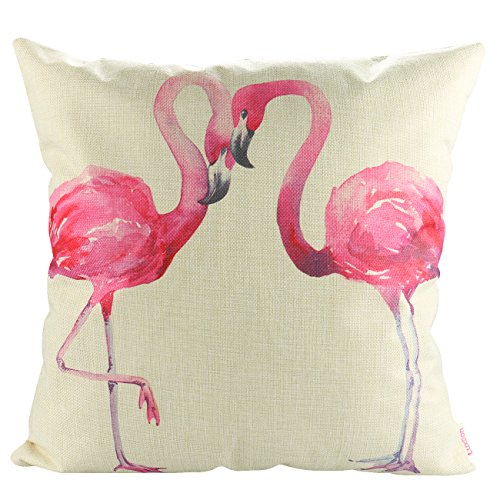 18 Quadrat Kissen (Luxbon Flamingos Liebhaber Kissenbezug Wurfkissenbezug Platz Akzente Setzen Pillowcase Haus Sofa Zimmer Cafe Auto Deko 18 x 18 '')