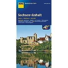 ADAC Bundesländerkarte Sachsen-Anhalt 1:250.000 (ADAC BundesländerKarten Deutschland)