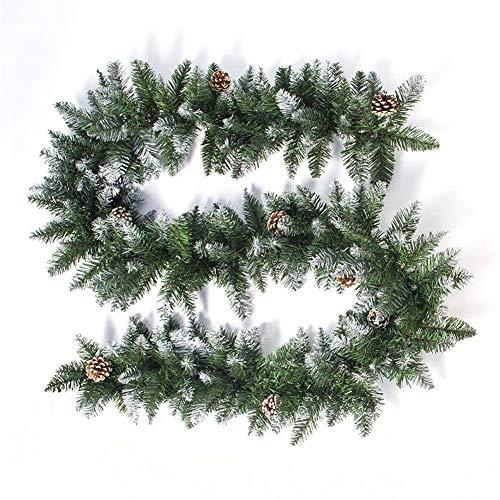 Mona43Henry Decoración De Cono De Pino Y Puerta De Ventana De Ratán De Navidad, 2020 Ramas De Estilo Abeto Guirnalda Decorativa Para Puerta Ventana Ventana Porche Revestimiento