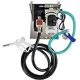 HELO AD-Blue Pumpe Tankstelle selbstansaugend 50l/min Förderleistung, digitales Zählwerk, Förderpumpe im Set inkl. Kunststoff Zapfpistole mit 4m Abgabeschlauch, IBC-Container Halterung und Schlauch Adapter