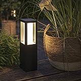 Philips Hue White & Color Ambiance Impress - Sockelleuchte, schwarz Niedervolt Erweiterung | Smart Home Leuchte für den Aussenbereich, dimmbar, bis zu 16 Millionen Farben, IP44