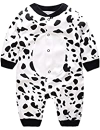 Minizone Recién Nacido Pijama Bebés Algodón Mameluco Niñas Niños Peleles ...