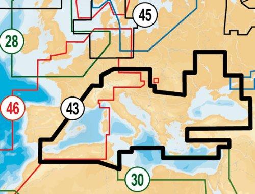 Lowrance Navionics Digitale Seekarten Mediterranean und Black Sea SD Card, 000-11312-001