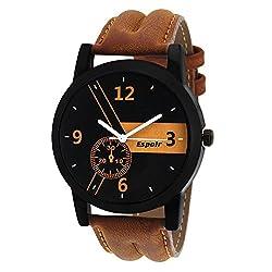 Espoir Casual Analogue Tan Leather Strap Multicolour Dial Men's Watch - Kranti0507