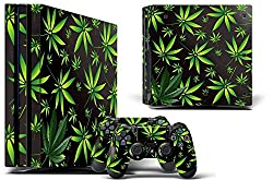 24*7 Skins PS4 Pro Console + Controller Skin - Weeds