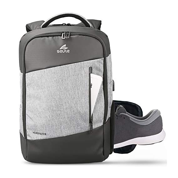 Seute Verdiater Laptop Backpack with USB Port and Multipurpose Pocket