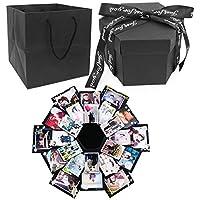 Dawa Black Explosion Box,Creative Handmade DIY Photo Album Scrapbooking Gift Box For Christmas Birthday Anniversary Valentine Wedding Mother's Day
