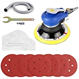 "FIXKIT 6"" Air Random Orbital Sander, Dual Action sander, Pneumatic Orbit Polisher Grinding Sanding Tools with Sanding Discs Pad (Air Compressor Needed)"