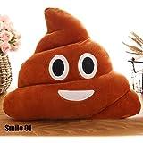 calistouk Creative Cute Emoji caca shits de peluche almohada cojín Home Living Decor para cama sofá coche
