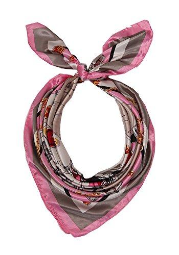 DiaryLook Damen Silk Feeling Schals Square Kopftücher Halstuch Halstuch Wrap Zubehör für Frauen