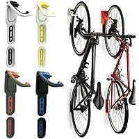 Reliancer - Soporte de Pared para Bicicleta, Plegable, 4 Colores, con Gancho para