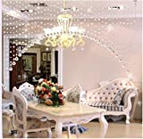 KEERADS Crystal Bead Curtain - Room Door Window Beads Crystal String Curtain Beads Wall Panel Fringe Divider Luxury Living Room Bedroom String Tassel Window Door Wedding Decor (Clear)