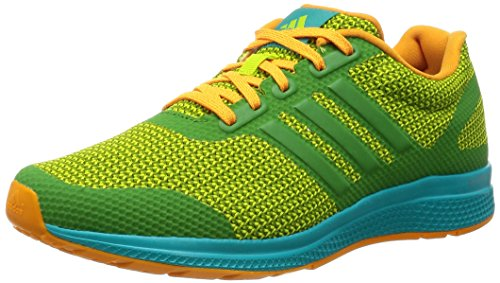adidas Mana Bounce M, Chaussures de Running Entrainement Homme Vert (Semi Solar Slime/Raw Lime/Eqt Orange)