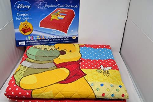Trapunta Winnie The Pooh.Caleffi Trapunta Primaverile Singolo Cotone Winnie The Pooh Pooh Patchwork Var 034 Rosso