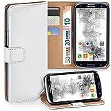 moex Samsung Galaxy S3 | Hülle Weiß mit Karten-Fach 360° Book Klapp-Hülle Handytasche Kunst-Leder Handyhülle für Samsung Galaxy S3 / S III Neo Case Flip Cover Schutzhülle Tasche