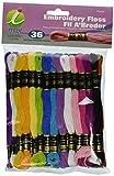 IRIS Pastel 6-Strand broderie échevettes, 100% coton, multicolore, 8m, Lot de 36