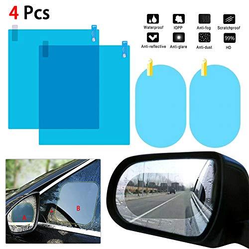 housesweet Auto-Rückspiegel-Schutzfilm, klare Anti-Beschlag-Blendschutz-Nanobeschichtungs-Regenschutzfilme Hd für Autospiegel und Seitenscheiben