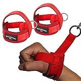 1 Paar Einhand Kabelzug Griffe / Trainings Griff / Latzug Einhandgriff ROT