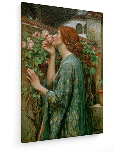 use - Die Seele der Rose - 40x60 cm - Textil-Leinwandbild auf Keilrahmen - Wand-Bild - Kunst, Gemälde, Foto, Bild auf Leinwand - Alte Meister/Museum ()