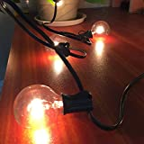LED Lichterkette, JOstarlights Lichterkette G40 Globe Garten Lichterkette, Innen/Außen Deko Glühbirne für Zuhause, Party, Weihnachten, Garten,Hochzeiten , (25 Birnen,2 Ersatzbirnen,Warmweiß )