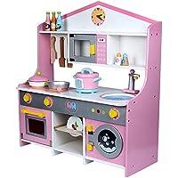 Casa DIY Casa de muñecas en miniatura Kits Habitac Cocina de juguete Juego de cocina Cosplay Niñas Lavadora Estufa de horno Juego de juego para niños ...