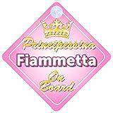 Principessina Fiammetta (Crown/Corona) adesivo bimbo / bambina / neonato a bordo per femmina adesivo macchina, bimbi, bambini, famiglia