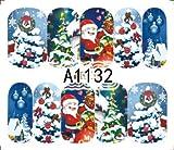 Cartoon Print Design–pack of 2Nail Stickers Christmas Water Transfer Stickers Nail Art Nail Stickers Nail Tattoo Sticker Christmas Design A1132