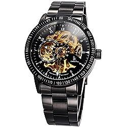 Alienwork IK Automatic Watch Self-winding Skeleton Mechanical Stainless Steel black black 98226-07