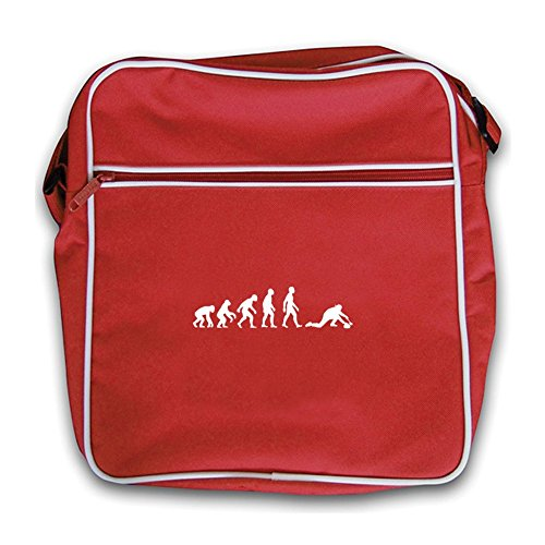 Dressdown Evolution Of Man Curling - Retro Flight Bag Red