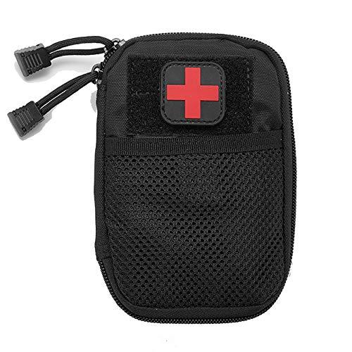 GXYCP 2*Medizinische Tasche EMT Outdoor-Erste-Hilfe-Patch Molle Zubehörtasche Tragbare IFAK-Dienstprogramm Tasche,Black