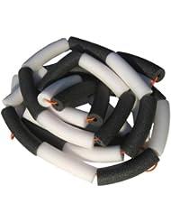 Ficelle élastique pour le saut en hauteur – noir et blanc