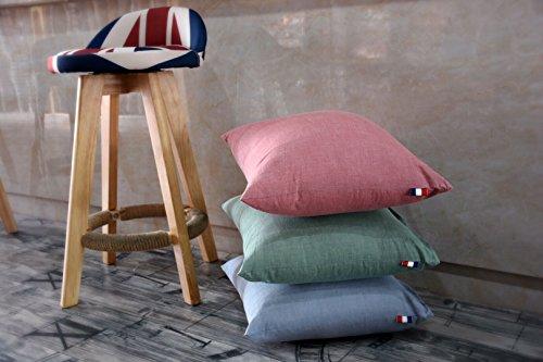 Gewaschener Baumwolle quadratische Kissen Kissen, rote Farbe, 60 * 60 cm ohne CMOS