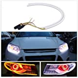 #5: Andride 2X Tube Audi Style White-Amber Switchback Headlight Led Strip Drl Daytime Light 60 Cm
