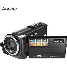 Andoer HDV-107 Digital Video Camcorder Kamera HD 720P 16MP DVR 2.7 '' TFT LCD Screen 16x ZOOM Schwarz