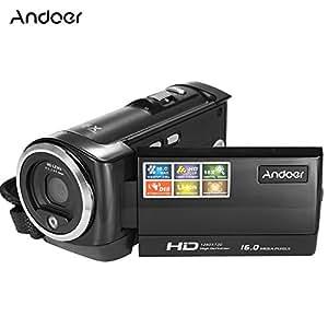 Andoer HDV-107 Vidéo Numérique Caméscope Caméra HD 720P 16MP DVR 2.7'' TFT LCD écran 16x ZOOM