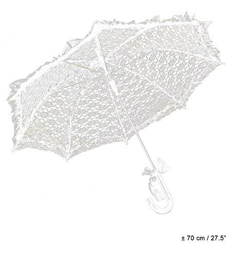 Sonnenschirm aus Spitze - Weiß - Romantischer Schirm für Theater Karneval Hochzeit
