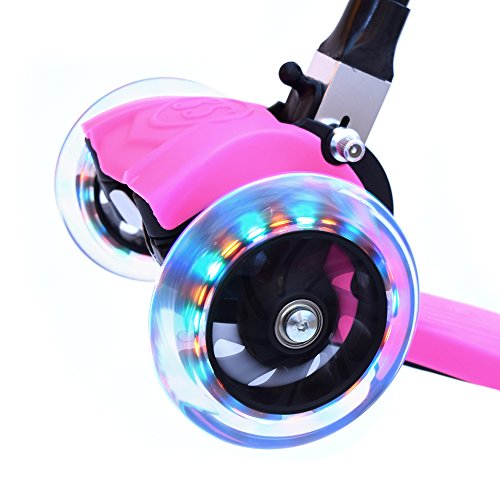 3Style Scooters® RGS-1 Scooter Tilt Kick board Mini T-Bar 3 Wheel Kick Scooter Board for Boys / Girls / Children / Kids With Spin & Flash LED Wheels Perfect Unique Present Xmas Christmas Gift- Free Upgrade to Expedited Shipping