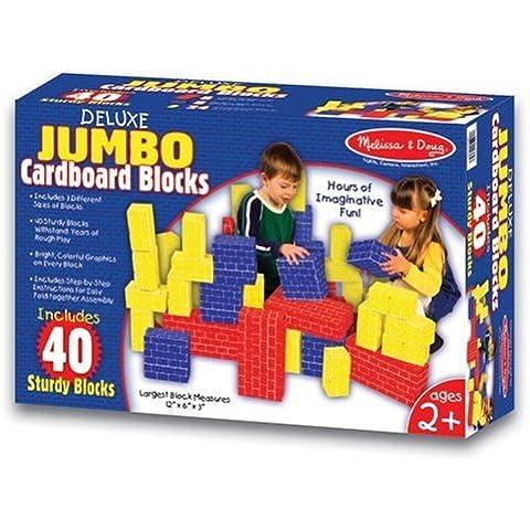 Deluxe Jumbo Cardboard Blocks (40 PC): Deluxe Jumbo Cardboard Blocks (40 PC)