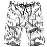 OOworld Men's Swim Trunks Old School Tattoo Cartoon Diamond Signs Symbols Quick Dry Beach Wear Shorts Swimwear with Pockets,XL