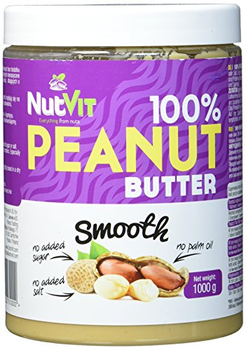 NutVit 100% Peanut Butter Smooth, 1er Pack (1 x 1 l)