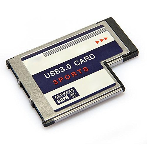 TOOGOO(R) 3 Port USB 3,0 ExpressCard Karte 54mm PCMCIA-Express-Card fuer Notebook NEU