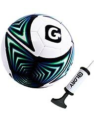 Glory Sports Haute Qualité Ballon de Foot d'entraînement Match Football Spécial (Toucher Souple Coudre à la machine) Couleurs Tailles Variées