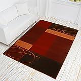 HANSE Home Designer Teppich Tony | Kurzflor in terracotta, beige, lila, grün, blau, grau, Größe:160x230, Farbe:Terracotta