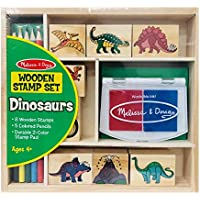 Melissa & Doug Wooden Stamp Set: Dinosaurs