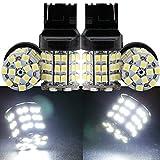 Grandview 4pièces Blanc 744074419927440NA 121054-smd Ampoule LED Tour Signal 12V Ampoule de Rechange T20W21–5W 21W 5W W3X 16Q ECE pour queue de frein de secours Tour Feux de stationnement